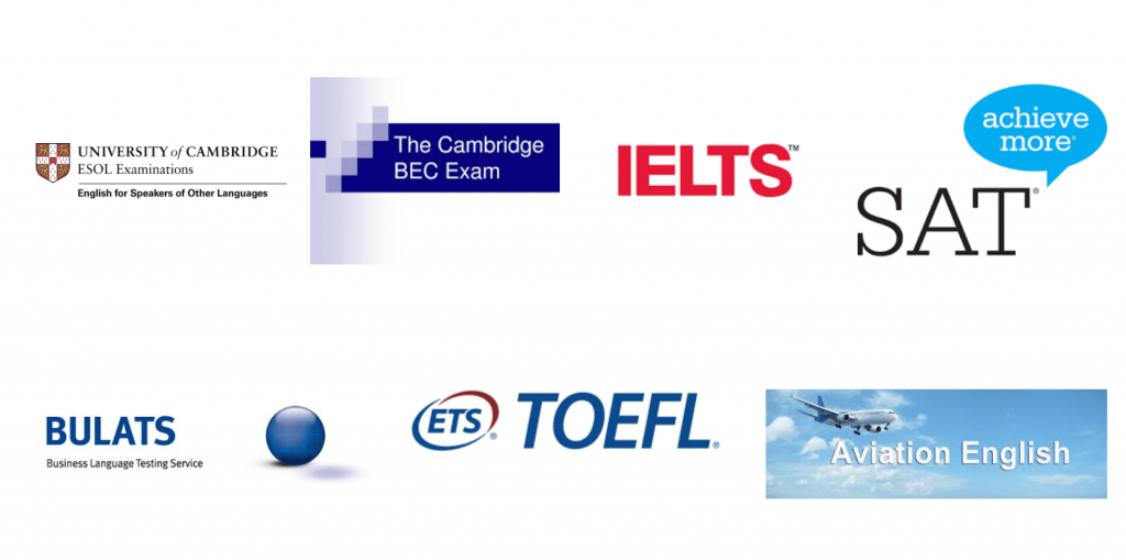 English exam certifications: IELTS, SAT, Cambridge, Bulats, TOEFL